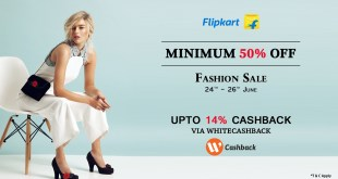 flipkart fashion sale with cashback