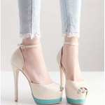 Hot-2014-New-Peep-Toe-Buckle-Strap-Thin-High-Heels-Women-font-b-Pumps-b-font