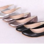 New-Women-Ballet-Flats-Genuine-Leather-neri-Loafers-Bling-Silver-Round-Toe-Glossy-Women-Flats-Shoes