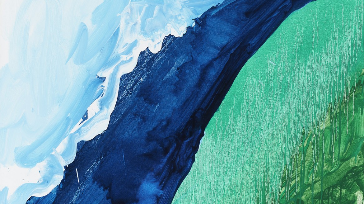 Mary Heilmann, Crashing Wave, 2011 (detail), Oil on canvas, 127 x 101.60 cm, © Mary Heilmann, Photo: Thomas Müller, Courtesy of the artist, 303 Gallery, New York, and Hauser & Wirt
