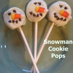 Snowman Cookie Pops