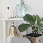 Fall Vignette in our Entryway