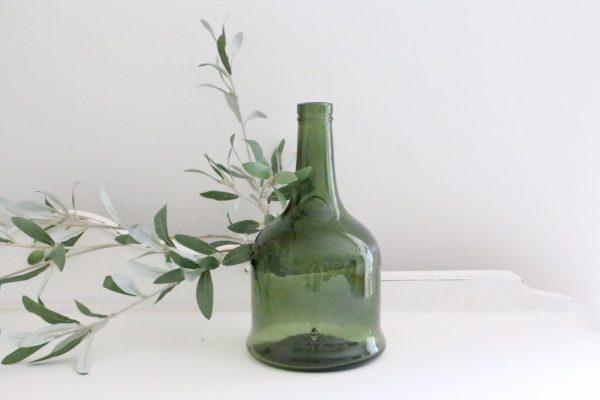 green, glass, bottle, French, vase, decor