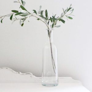 clear, glass, vase, home decor, vintage, flower
