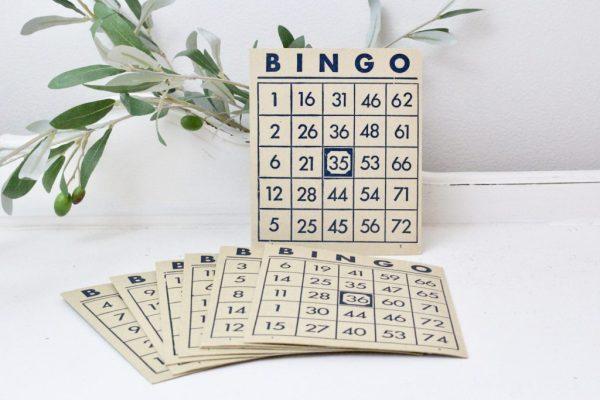 BINGO cards- home decor- vintage goods