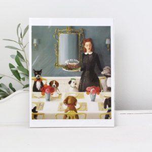 Janet Hill- artwork- art- home decor- A Well Mannered Dog