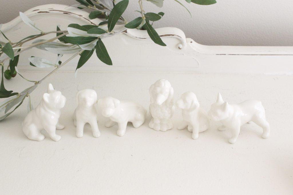 dogs- ceramic- figures- home decor