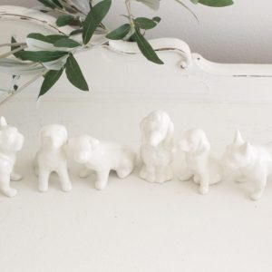 dogs- ceramic- figures- home decor