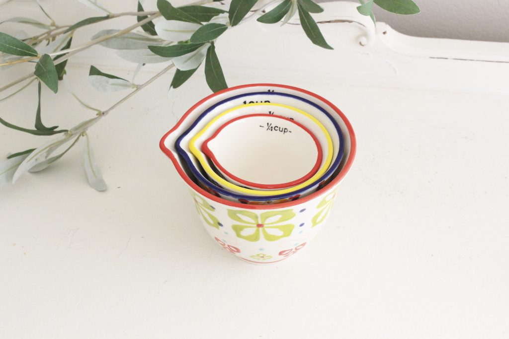 measuring cups- hand-painted- kitchen