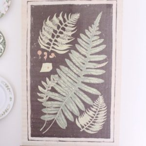 wall decor- ferns- hanging scroll- home decor