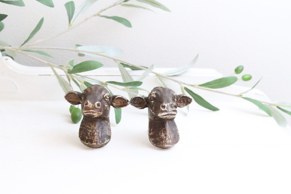 cow knobs- knobs- cow- farm animal- dresser knobs- home decor