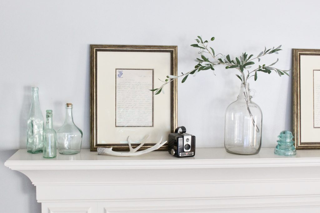Decorate Your Mantel: Spring Mantel With Keepsakes
