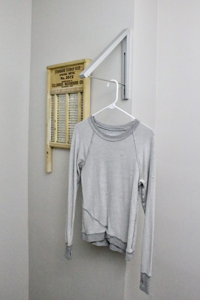 small space laundry- laundry room ideas- laundry room decor- adding a laundry room
