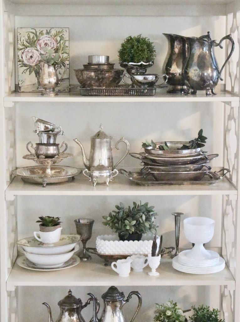 silver- collectibles- vintage silver- collecting- silver tableware- table settings- display ideas for collection