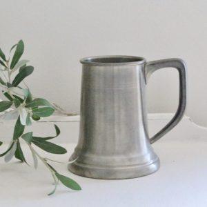 pewter- mug- vintage- home decor- kitchen