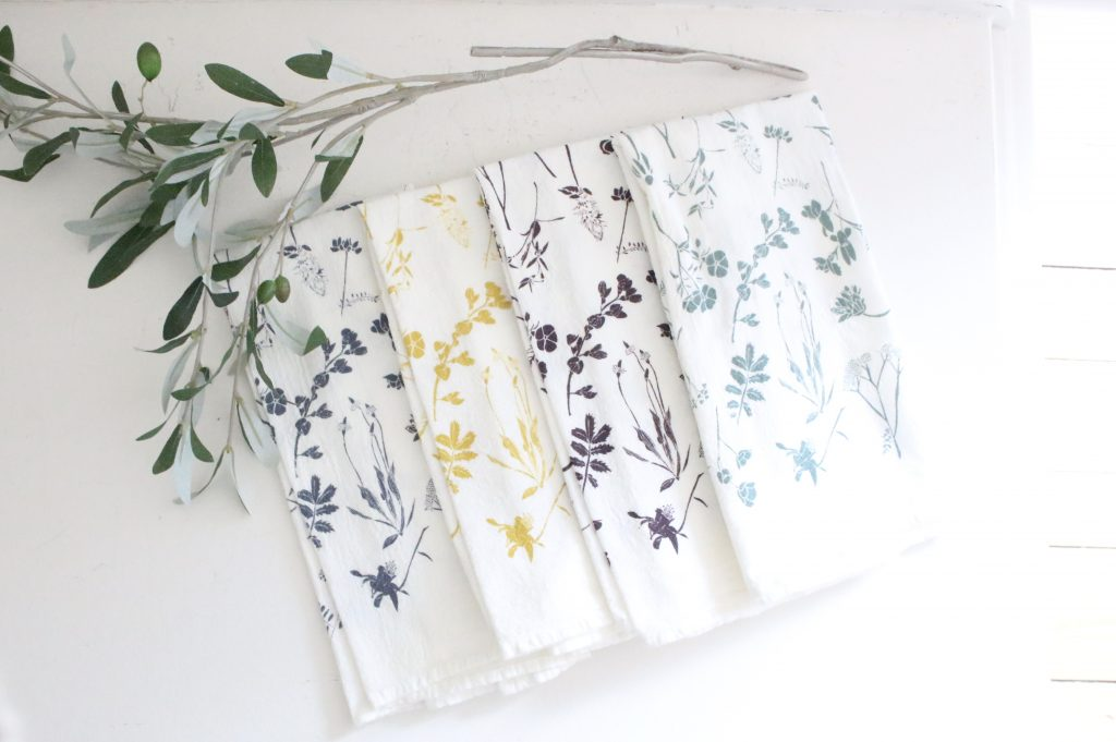 flour sack- napkins- kitchen- june & December