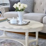 A New Cottage Style Coffee Table in the Family Room