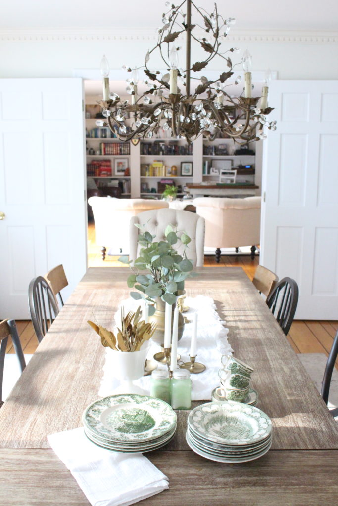 Classic Fall in our Dining Room- large dining room table