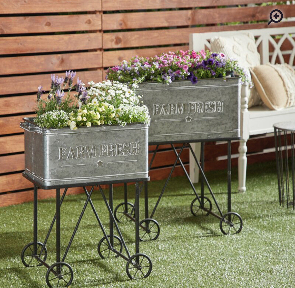 Galvanized Garden Cart