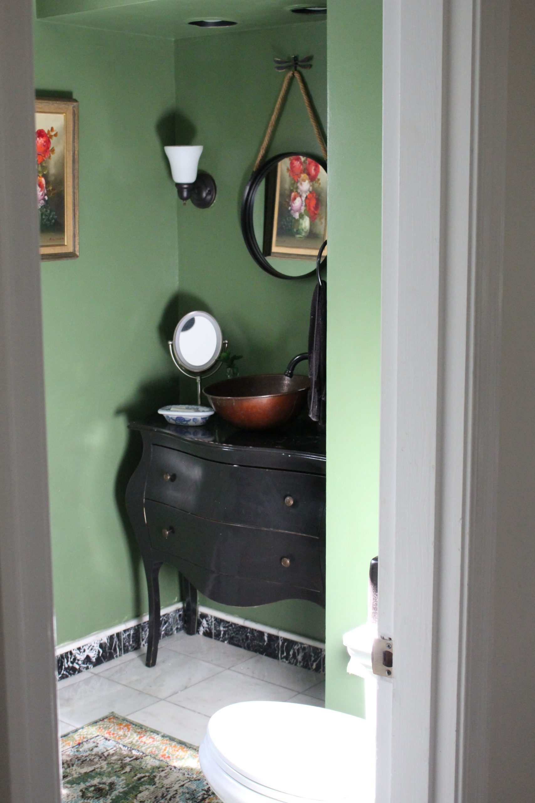 Rick Bold Powder Room~ White Cottage Home & Living