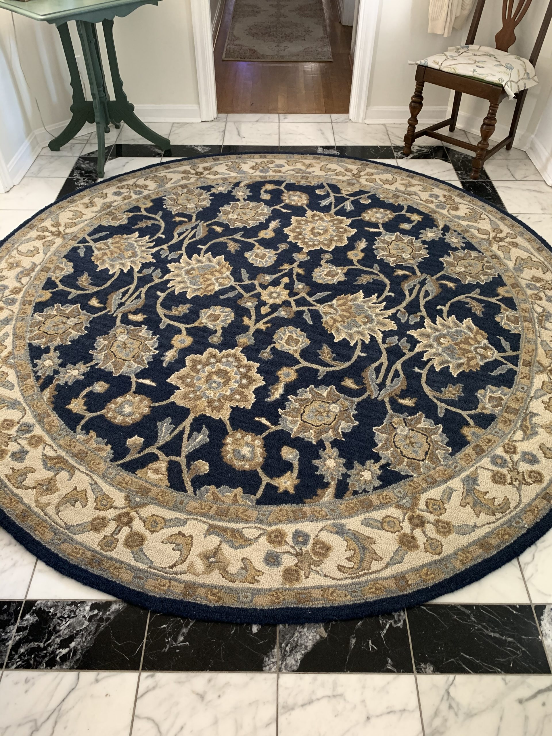 Wool Rug for $100 Room Challenge~ White Cottage Home & Living