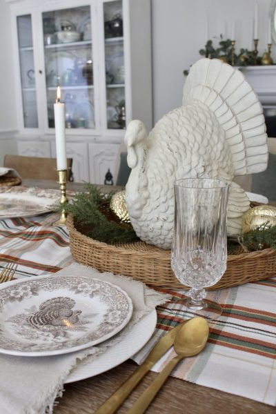 A Simple Thanksgiving Table Setting ~ White Cottage Home & Living