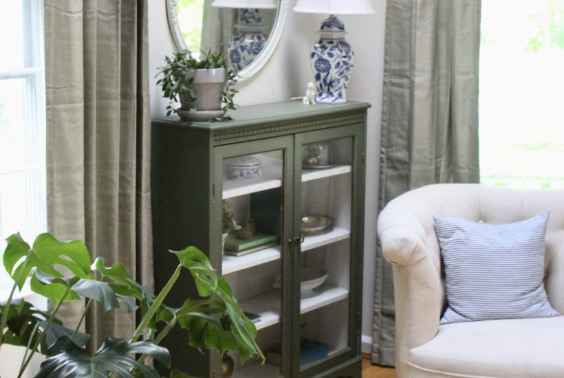 Antique Cabinet Gets a Makeover with Green Fusion Paint