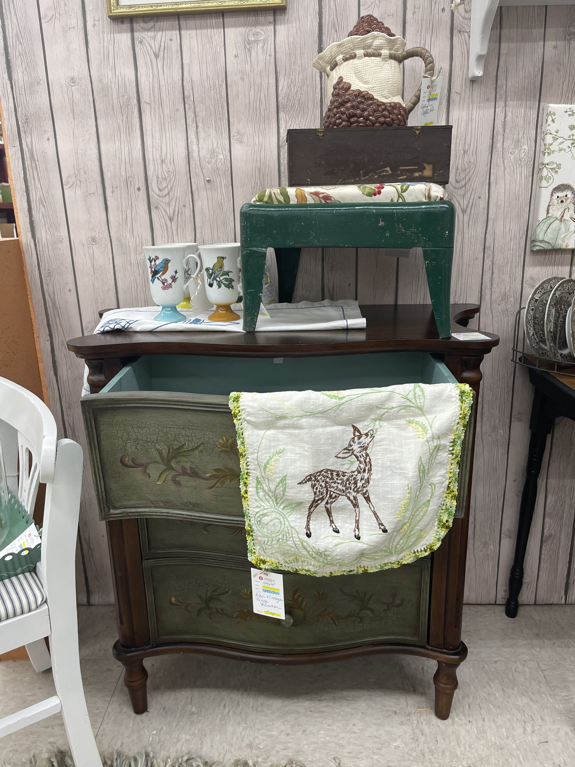 Fall Antique Booth Refresh ~ White Cottage Home & Living