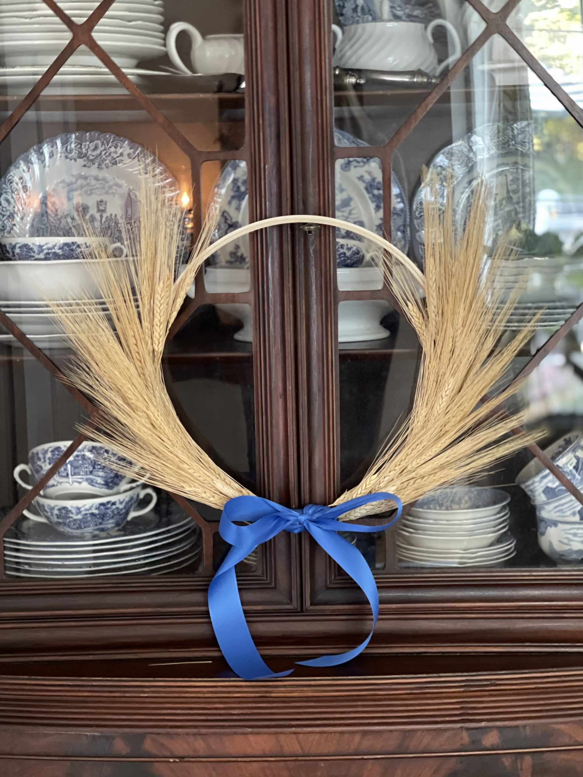Simple Fall Wheat Wreath~ White Cottage Home & Living