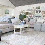 Early Fall in the Family Room with Blue & Green Decor