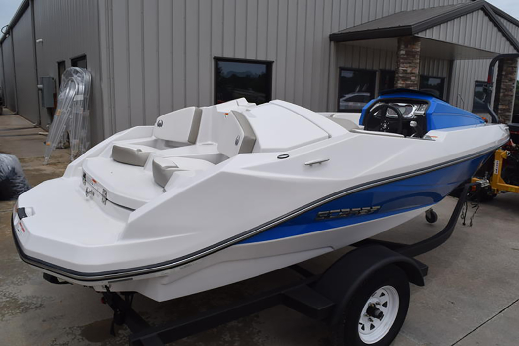 Jet boats are popular with families because they use jet engines rather tan propellers, making them safer for pull-behind sports. (Photo/Boating Atlanta)