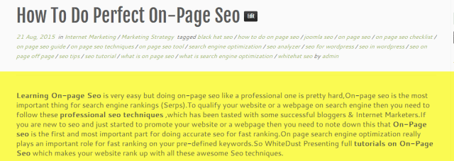 How can i do on-page seo easily