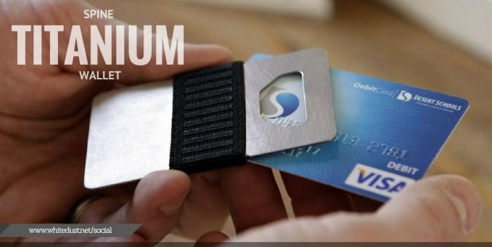 SPINE TITANIUM card WALLET