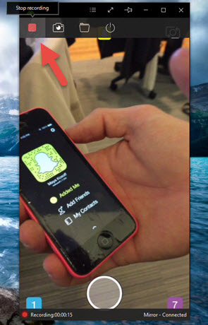 How to stop ongoing video on snap chat
