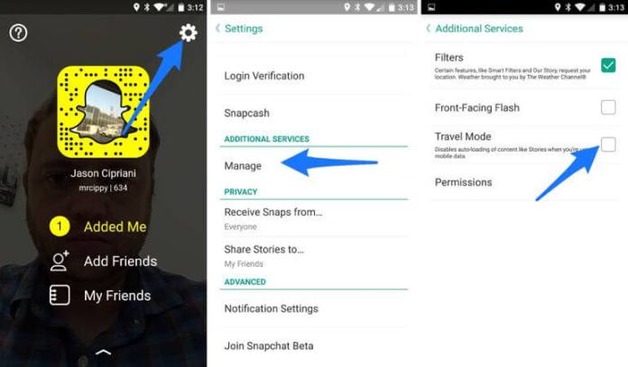How Travel Mode! Save Data While Using Snapchat