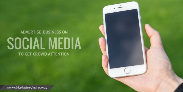 advertise business on social media