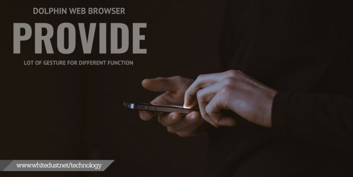 Dolphin Browser gesture