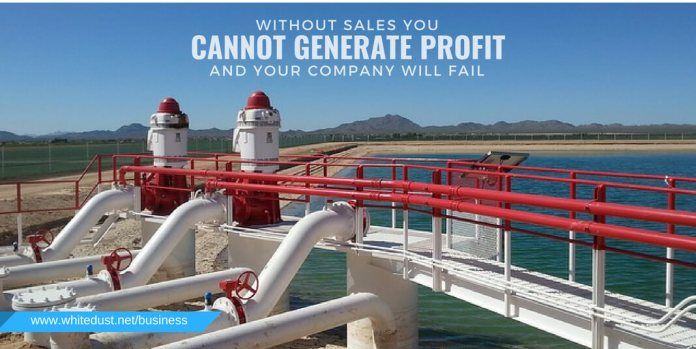 Without sales you cannot generate a profit and your company will fail