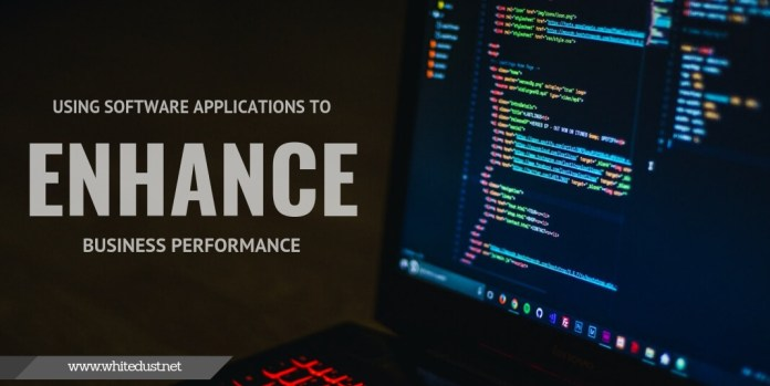 Using Software Applications to Enhance Business performance
