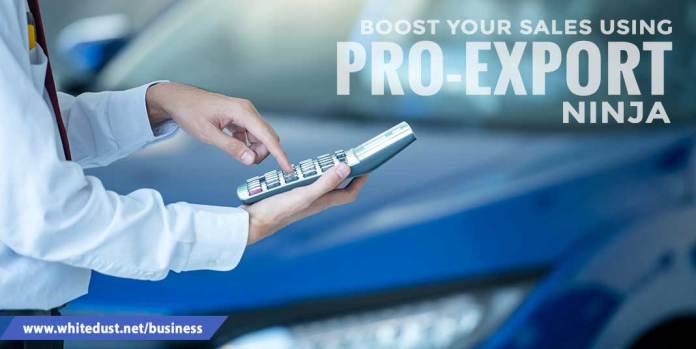 Boost your sales using Pro-export Ninja