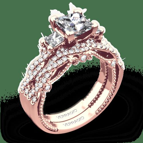 Verragio Ins 7074p Braided Three Stone Wedding Set For Princess 4779