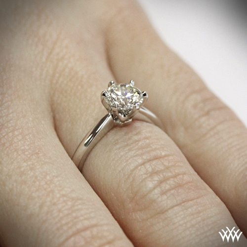 Contemporary Classic Solitaire Engagement Ring 1416