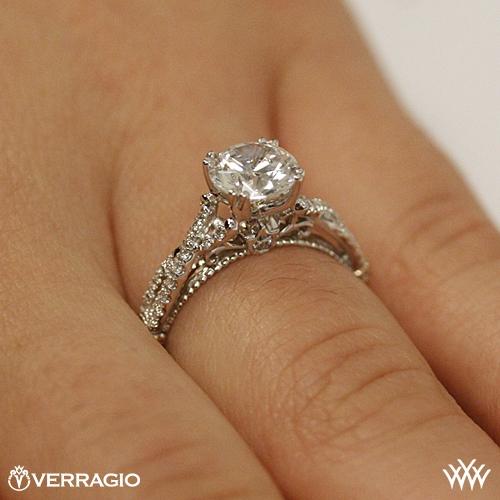 Verragio Braided Diamond Engagement Ring 3150