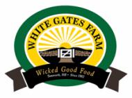 White gates farm logo