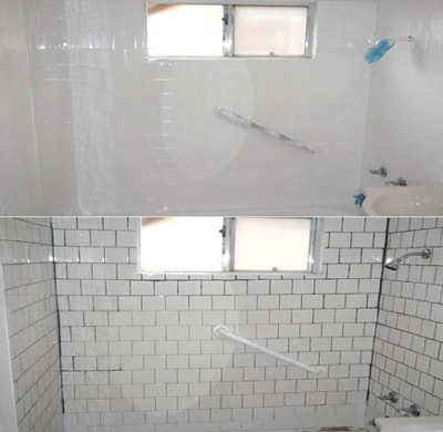 tile refinishing white glove bathtub
