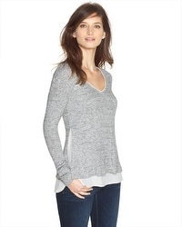 Layered Sweater Knit Top