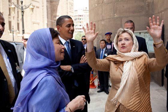 Hillary Clinton with Hijab