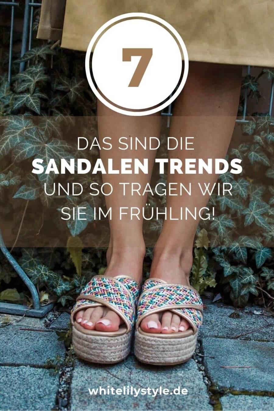 Sandalen Trend 2021 - So tragen wir die Trend Sandalen im Frühling und Sommer 2021