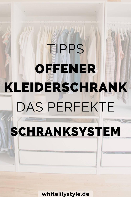 Offener Kleiderschrank  - Tipps um dein Ikea Schranksystem perfekt zu planen