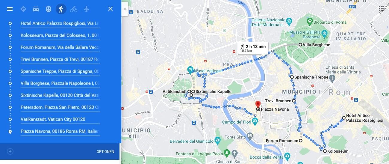 Rom Karte Sehenswürdigkeiten Reiseblog Whitelilystyle
